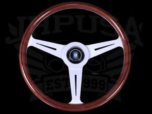 Nardi Classic Wood 360mm Steering Wheel W Satin Silver Spokes