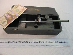 Moore Wright 405 9 Rod Surface Scribe Height Gage In Oem Wood Box Ec Ln
