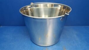 Stainless Steel Round Bucket 5 Gallon Bkt ss 500