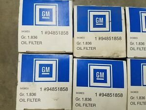 Lot Of 11 Chevy Gm Dealership Oem Oil Filters Acdelco 94851858