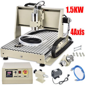 1500w Usb Vfd 4axis Cnc 6040 Router Engraver milling drill Machine 3d Cutter Kit