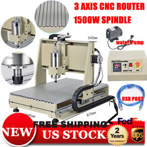 Usb 3 Axis Cnc Router Engraver Milling Machine 6040 Engraving 3d Carving 1500w