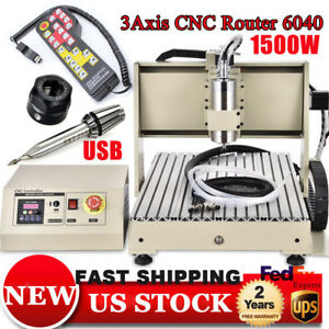 Usb 1 5kw 3axis Cnc Router 6040 Engraving Engraver Machine Milling Withhandwheel