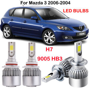 Ascent H7 9005 Hb3 Led Headlight Kit Power Bulb Replace For Mazda 3 2006 2004 Us