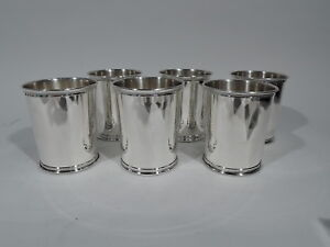 Reed Barton Mint Julep Cups X253 American Sterling Silver Carter 1977 81