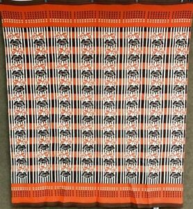 Farmhouse Pa Vintage Camp Blanket Brown Cheddar 70 X 80 Never Used 1