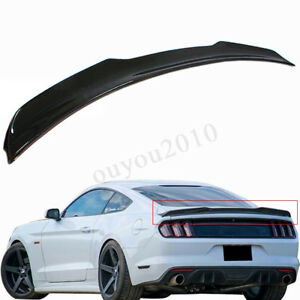 For 2015 2019 Ford Mustang Gt H Style Carbon Fiber Rear Trunk Spoiler Wing Lid