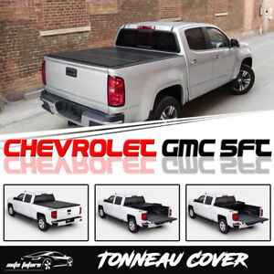 For 2015 19 Chevy Colorado gmc Canyon 5ft Hard Tri fold Tonneau Cover Truck Bed
