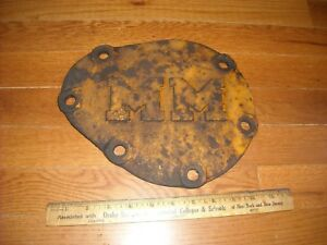 Minneapolis Moline Cast Iron Plate Cover Lid Tag Kt101a Tractor