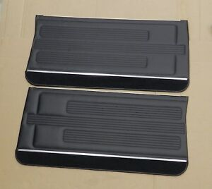 1967 Gto Lemans Pui Front Door Panels Assembled Black in Stk