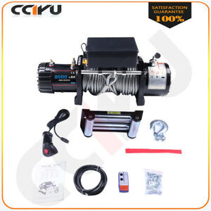 9500lb Electric Winch 8 5mm 24m Steel Rope Remote Control For 02 10 Hummer