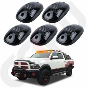 5pc Smoke Cab Roof Marker Lights Yellow For Dodge Ram 2500 3500 4500 2003 2019