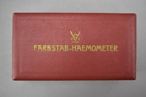 Antique 1940s Farbstab haemometer Hemoglobin Blood Testing Kit Made In Germany