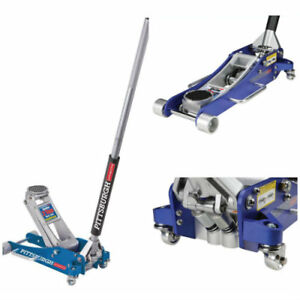 2 Ton Floor Jack With Rapid Pump Aluminum Racing Low Profile Dual Parallel Systm