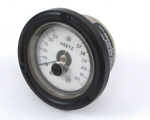 Phaostron 633 20538 Frequency Meter 48 62hz Diameter 3 5