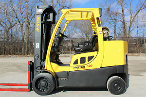 2007 Hyster S120ftprs 12 000lb Capacity Forklift 3 Stage Mast Hi Lo Truck Hyster