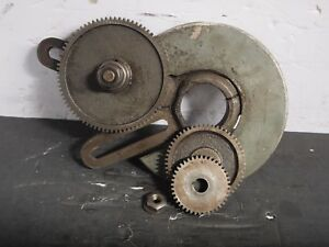 South Bend 9 Lathe Banjo Assembly W gears 80t 56t 40t Used Machinist