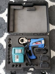 Nice Eclipse 902 484 Eclipse Tools Quickcrimp Battery Powered Hex Crimper W dies