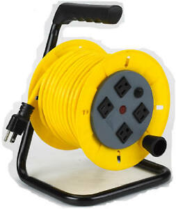 Alert Stamping 7140a Wind Up Cord Reel With Tubular Steel Frame 40