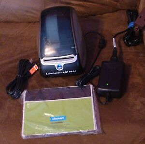 Dymo Labelwriter 450 Turbo Thermal Label Printer With Cords Manuals And Cd