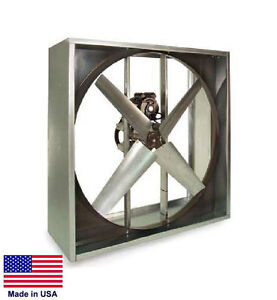 Exhaust Fan Industrial Belt Drive 48 115 230v 2 Hp 1 Ph 21100 Cfm