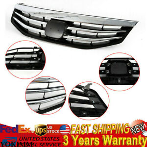 Front Upper Bumper Hood Chrome Grill Fit 2011 12 Honda Accord Ex Coupe sedan Abs