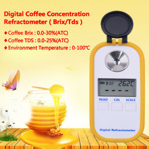 Digital Display Pocket Refractometer Coffee Concentration Tds brix Tester Waterp
