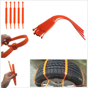 Snow Ice Mud Road Anti Skid Grip Emergency Car Truck Wheel Tire Chain Universal