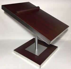 Vintage Jcpenney Countertop Retail Slant Double Shoe Stand Wood