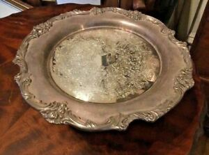 Vintage Antique King Francis Silver Plate Compote Pedestal Serving Tray