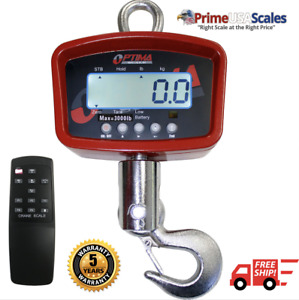 Optima Scales Op 924b 3000 General Purpose Crane Scale 3 000 Lb X 1 Lb