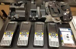 Lot Of 4 Psion Teklogix Workabout Pro Wa4002 g1 And 2 Stations And Cases