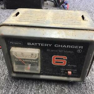 Sears 6 Amp 12 Volt Battery Charger Untested