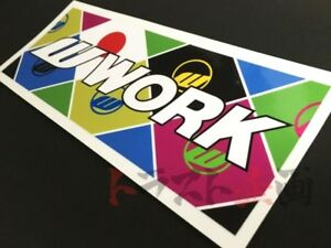 979191074 Work Decal Colorful Sticker White Logo 7 20 X2 76 Meister Equip