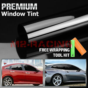Vlt 5 Uncut Roll 39 X 50ft Window Tint Film Charcoal Black Car Glass Office