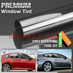 Vlt 50 Uncut Roll 39 X 25ft Window Tint Film Charcoal Black Car Glass Office