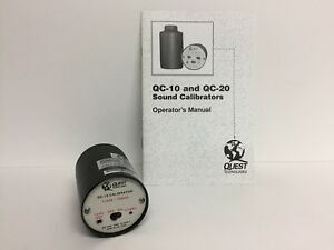 Quest Technologies Model Qc 10 Sound Calibrator With Operator s Manual