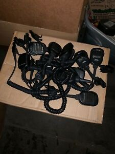 Lot Of 10 Motorola Nmn6191c Nmn6193b Noise Cancelling Speaker Mic Ht1000 Xts3000
