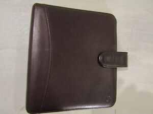 Franklin Covey Vintage Pocket Open Snap Full Grain Leather Binder Planner