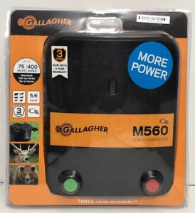 Gallagher Electric Fence Energizer M560 5 6 Joules 75 Miles Brand New