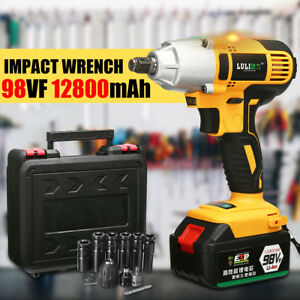 98vf Electric Cordless Impact Wrench 12800mah Li Ion Battery 1 2 Drive