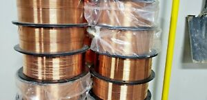 30 Lb Roll 062 Mig Welding Wire Spool Arts Crafts Copper 98 14 Awg Vintage