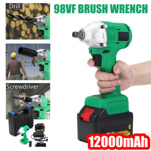 98vf Electric Cordless Impact Wrench Brushless 1 2 Driver 460 Nm 12000mah