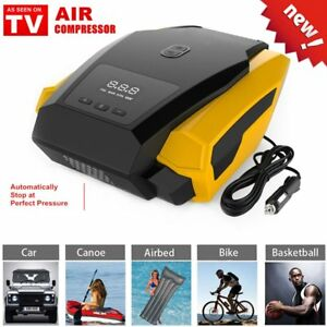 Air Compressor 12v Portable Digital Car Pump Inflator Tire Tyre as Seen On Gv