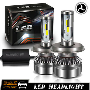 Dot Approval 12000lm H4 Led Headlight Kit Hb2 9003 Hi Low Beams Hid 6000k Bulbs