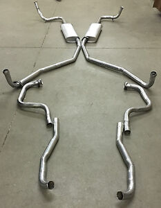1966 Buick Riviera Dual Exhaust System With Resonators 304 Stainless
