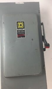 Square D Hu364 Heavy Duty Safety Switch 200 Amp 600 Vac 150 Hp