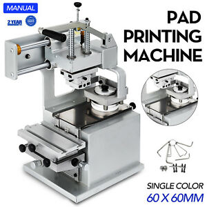 Manual Pad Printer Pad Printing Machine 58 Mm Rubber Head Stroke Plate Pad