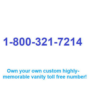 Rare And Memorable Vanity Toll Free Number For Your Business 1 800 321 7214