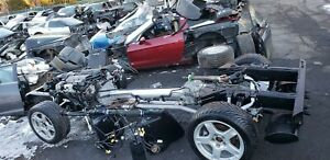 1998 Corvette C5 Rolling Drivetrain Chassis With Ls1 Engine Auto 65k